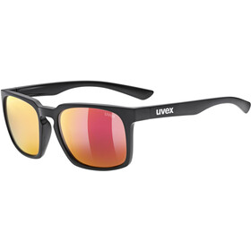 UVEX LGL 35 Brille, black mat/mirror red